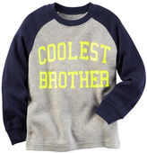 Carter's Long-Sleeve Coolest Brother Raglan Graphic Tee