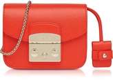 Furla Metropolis Arancio Leather XS Crossbody