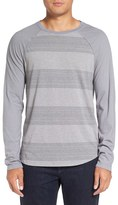 Michael Stars Men's Variegated Stripe Long Sleeve T-Shirt