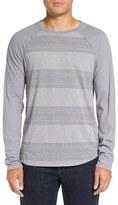 Michael Stars Men's Variegated Stripe Long Sleeve T-Shirt