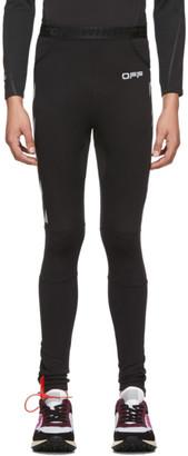 Off-White Black and Silver Running Leggings