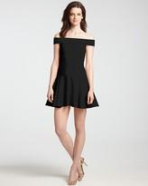 Halston Ponte Dress - Off Shoulder
