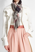 Burberry Printed Scarf with Wool