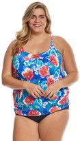 Penbrooke Plus Size Garden Beauty Blouson Tankini Top 8150470