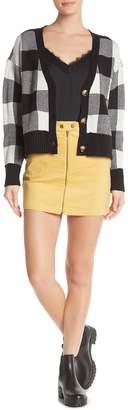 Hyfve Corduroy Zip Up Mini Skirt