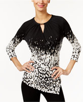 Calvin Klein Asymmetrical Faux-Wrap Top