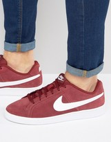 Nike Court Royale Suede Trainers In Red 819802-600