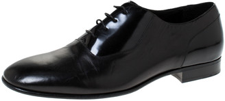 Jimmy Choo Black Leather Tyler Lace Up Shoes Size 44