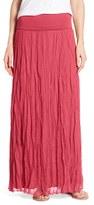 Matty M Women's Crinkle Maxi Skirt