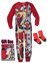 Marvel Spiderman Boys' Onesie and Socks Set