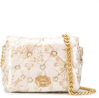 Moschino Quilted Floral-Print Crossbody
