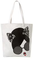 Alice + Olivia Stacey Cat Face Canvas Tote