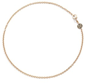 Pomellato Sabbia Necklace with Brown Diamonds in 18K Rose Gold