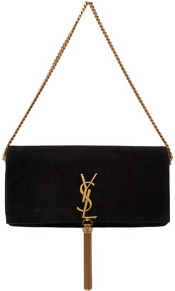 Saint Laurent Black Suede Kate 99 Tassel Bag
