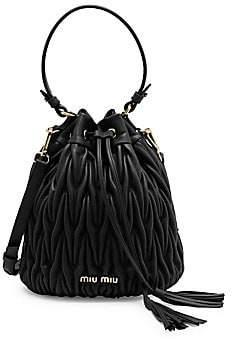Miu Miu Women's Matelassé Leather Bucket Bag