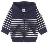 Petit Bateau Baby boys hooded striped sweatshirt