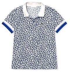 Lacoste Girls' Leopard Print Petit Pique Polo Shirt - Little Kid, Big Kid