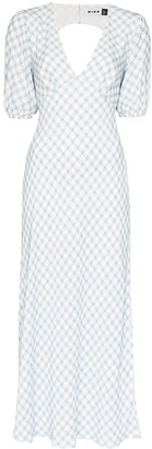 Rixo Steph gingham dress