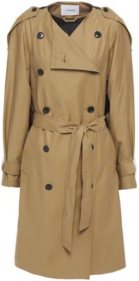 Frame Two-tone Cotton-blend Gabardine Trench Coat