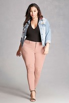 Forever 21 FOREVER 21+ Plus Size Mid-Rise Jeans
