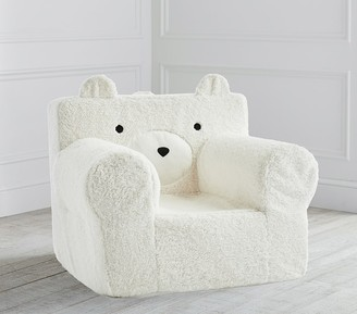 Pottery Barn Kids Oversized Ivory Bear Cozy Sherpa Anywhere Chair