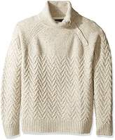 Nautica Men's Long Sleeve Raglan with Button Neck Sweater