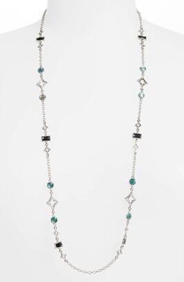 Armenta New World Long Stone Beaded Necklace