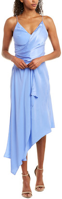 Acler Lucas Silk Midi Dress