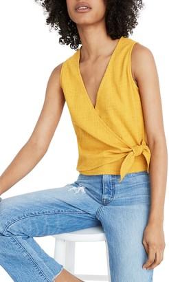Madewell Sleeveless Wrap Tie Shirt (Regular & Plus Size)