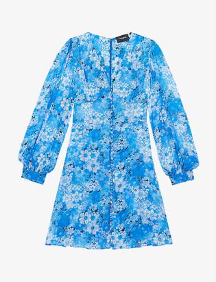 The Kooples Floral-print chiffon mini dress