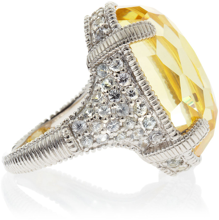 Judith Ripka Glacier Canary Crystal Pave Ring