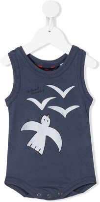 The Animals Observatory Turtle bird-print cotton body