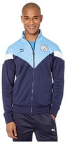 Puma Manchester City FC Iconic MCS Track Jacket (Peacoat/Team Light Blue) Men's Clothing