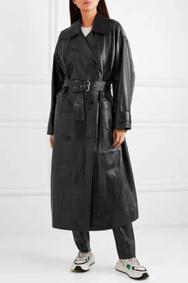 Stand Studio - Eliora Leather Trench Coat - Black