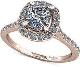 Macy's Diamond Halo Mount Setting (1/3 ct. t.w.) in 14k Rose Gold