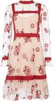 Endless Rose Long Sleeve Fit & Flare Print Dress
