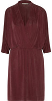 Tart Collections Constance Wrap-Effect Washed Stretch-Jersey Mini Dress