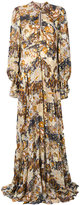 Chloé floral maxi dress - women - Silk/Polyester/Metallized Polyester - 38