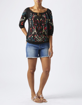 Monsoon Tara Tie Front Embroidered Jumper