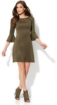 New York & Co. Must-Have Bell-Sleeve Solid Flare Dress