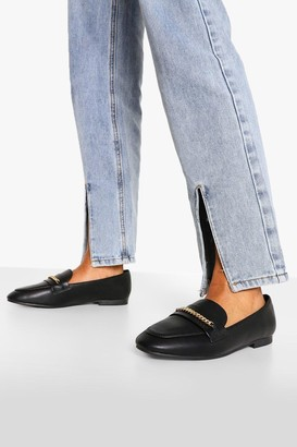 boohoo Chain Detail Basic Loafers