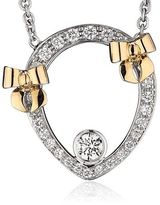 Theo Fennell Diamond and Rose Gold Bow Tryst Necklace