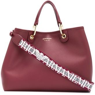 Emporio Armani Grained-Effect Tote Bag