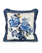 """Jay Strongwater Magnolia Pillow, 20""""Sq."""