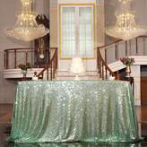 PartyDelight Sequin Tablecloth, Sequin Tablecloths Square Round Tablecloth