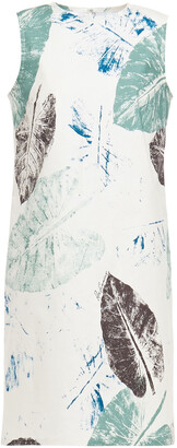 Carolina Herrera Printed Stretch-cotton Mini Dress