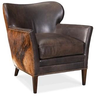 "Hooker Furniture Kato 29.5"" W Top Grain Leather Armchair"