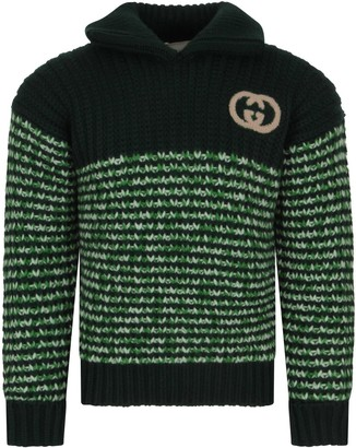 Gucci Green Sweater With Double Gg For Boy