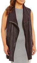 Calvin Klein Plus Distressed Faux-Suede Vest