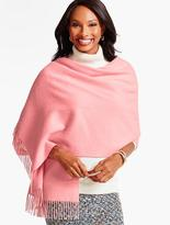 Talbots Fringed Waterweave Cashmere Wrap